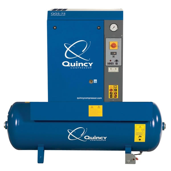 Quincy QGS 7.5-HP 60-Gallon Rotary Screw Compressor (230V 1-Phase)