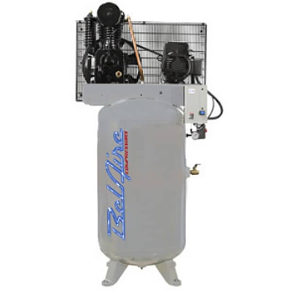 BelAire Iron Series 5-HP 80-Gallon Two-Stage Cast Iron Air Compressor (208-230V 3-Phase)