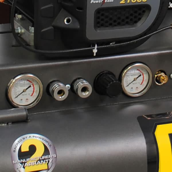 Panel mounted gauges to monitor tank & tool pressure at a glance