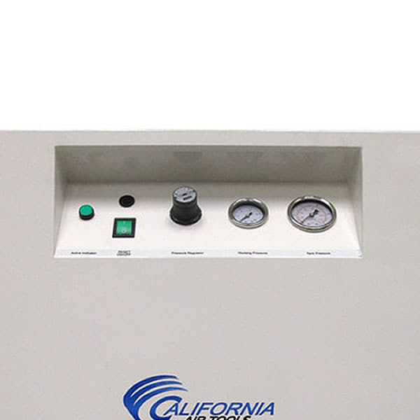 Compressor controls connect to front mounted cabinet controls