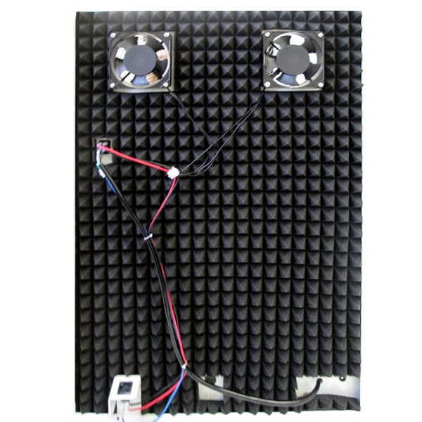 Acoustic foam lining reduces noise up to 30%