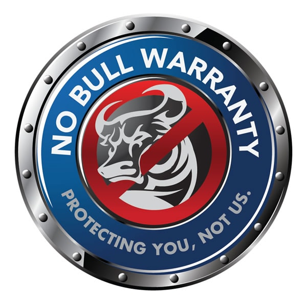 The No Bull Warranty PDF download is under the Specs tab