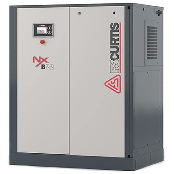FS-Curtis NxB-37 50-HP Tankless Rotary Screw Air Compressor w/ iCommand Touch Controller (460V 3-Phase 125 PSI)
