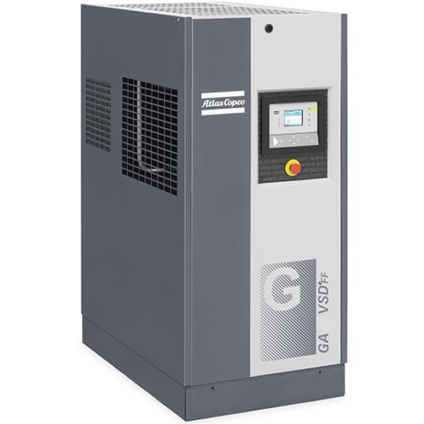 Atlas Copco GA11 VSD+ 15-HP Variable Speed Rotary Screw Air Compressor w/ Dryer (200V 3-Phase)