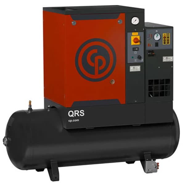 Chicago Pneumatic 10-HP 120-Gallon Rotary Screw Air Compressor (208/230/460V 3-Phase 125PSI) w/ Dryer
