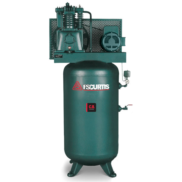 FS-Curtis (CA7.5) 7.5-HP 80-Gallon Two-Stage Air Compressor (230V 3-Phase)