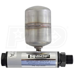 Tsunami Moisture Minder Automatic Piston Air Tank Drain w/ External Reservoir (300 PSI)