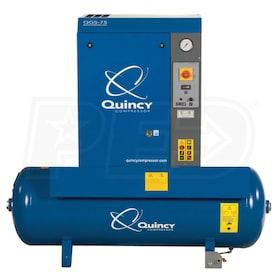 Quincy QGS 15-HP 120-Gallon Rotary Screw Compressor (208/230/460V 3-Phase)