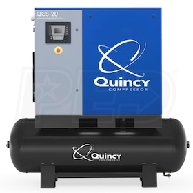 Quincy QGS 20-HP 120-Gallon Rotary Screw Air Compressor (208/230/460V 3-Phase)