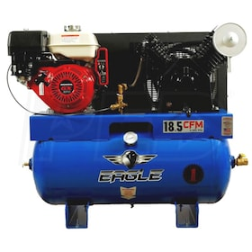 Eagle 9-HP 30-Gallon Two-Stage Truck Mount Air Compressor w/ Honda Engine & Electric Start