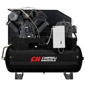 Campbell Hausfeld Commercial  25-HP 120-Gallon Two-Stage Air Compressor (460V 3-Phase) w/ Starter