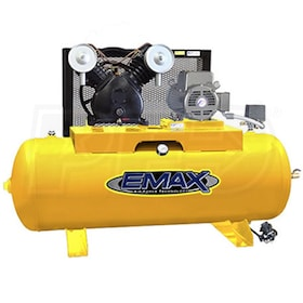EMAX 5-HP 80-Gallon Dual-Voltage Single-Stage Air Compressor (208/230V 1-Phase)