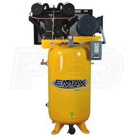 EMAX 10-HP 80-Gallon V-4 Two-Stage Air Compressor (230V 3-Phase)