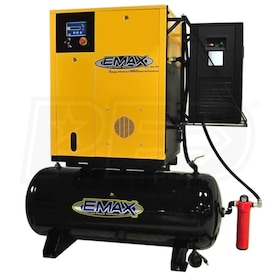 EMAX 15-HP 120-Gallon Variable Speed Rotary Screw Air Compressor Fully Packaged w/ Dryer (460V 3-Phase)