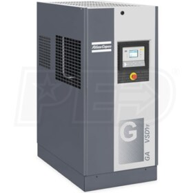 Atlas Copco GA15 VSD+ 20-HP Variable Speed Rotary Screw Air Compressor w/ Dryer (200V 3-Phase)