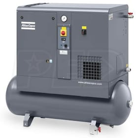 Atlas Copco GX5 7.5-HP 53-Gallon Rotary Screw Air Compressor (230V 1-Phase)