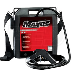 Maxus 30-Pound Siphon Feed Sand Blaster w/ Plastic Hopper