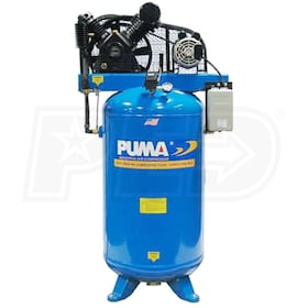 Puma 6.5-HP 80-Gallon Two-Stage Air Compressor (208-230V 1-Phase)