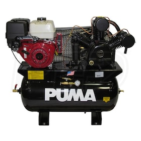 Puma 13-HP 30-Gallon Two-Stage Truck Mount Air Compressor w/ Honda Engine & Electric Start