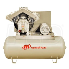 Ingersoll Rand 20-HP 120-Gallon Two-Stage Air Compressor (460V 3-Phase) Fully Packaged