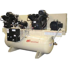 Ingersoll Rand 7.5-HP / 15-HP 120-Gallon Two-Stage Duplex Air Compressor (208V 3-Phase) Fully Packaged
