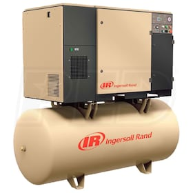 Ingersoll Rand 5-HP 80-Gallon Rotary Screw Air Compressor (208V 1-Phase 125PSI)