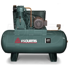 FS-Curtis (CT10) 10-HP 120-Gallon Two-Stage Air Compressor (460V 3-Phase)