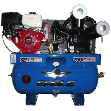 Eagle 13-HP 30-Gallon Two-Stage Truck Mount Air Compressor w/ Honda Engine & Electric Start
