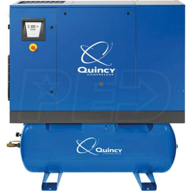 Quincy QGS 20-HP 120-Gallon Rotary Screw Compressor (208/230/460 3-Phase)