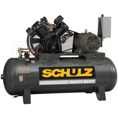 Schulz L-Series 20120HLV80BR-3  20-HP 120-Gallon Two-Stage Air Compressor (460V 3-Phase)