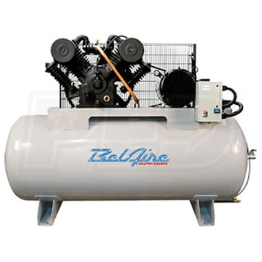 BelAire Iron Series 10-HP 120-Gallon Two-Stage Cast Iron Air Compressor (208-230V 3-Phase)