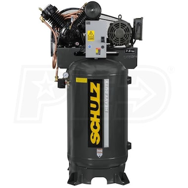 Schulz V-Series 7580VV30X-3 7.5-HP 80-Gallon Two-Stage Air Compressor (208V 3-Phase)