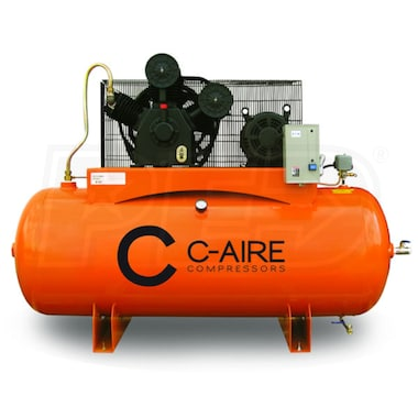 C-Aire 10-HP 120-Gallon Two-Stage Air Compressor (208-230V 3-Phase)
