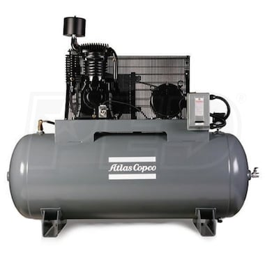 Atlas Copco AR10 10-HP 120-Gallon Two-Stage Air Compressor (208/230V 3-Phase)
