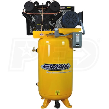 EMAX 7.5-HP 80-Gallon Two-Stage Air Compressor (208V 3-Phase)