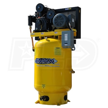 EMAX 10-HP 120-Gallon Two-Stage Air Compressor (208V 3-Phase)