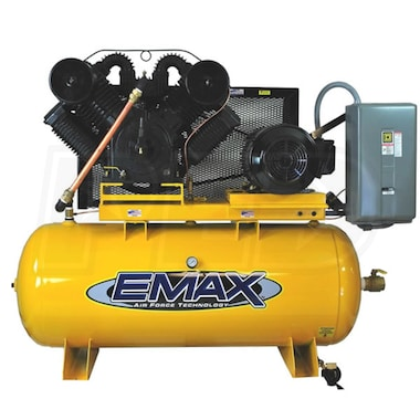 EMAX 25-HP 120-Gallon Two-Stage Air Compressor (208V 3-Phase)