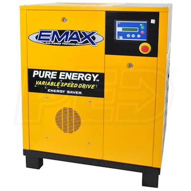 EMAX 7.5-HP Tankless Rotary Screw Air Compressor with Variable Speed Drive (230V 3-Phase)