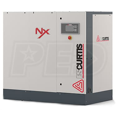 FS-Curtis NxB-15 20-HP Tankless Rotary Screw Air Compressor (460V 3-Phase 125PSI)