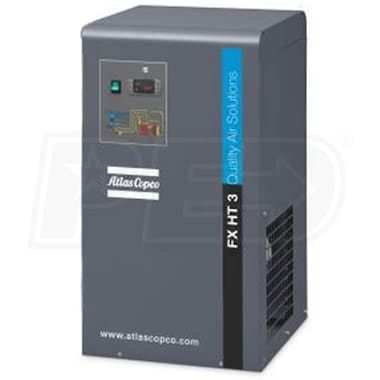 Atlas Copco FXHT3 Non-Cycling High Temperature Refrigerated Air Dryer 10-HP To 15-HP (81 CFM@ 125 PSI)