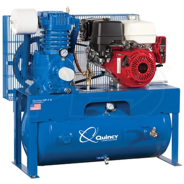 Quincy QP 13-HP 30-Gallon Pressure Lubricated Two-Stage Truck Mount Air Compressor w/ Electric Start Honda Engine