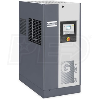 Atlas Copco GA15 VSD+ 20-HP Variable Speed Rotary Screw Air Compressor w/ Dryer (230V 3-Phase)