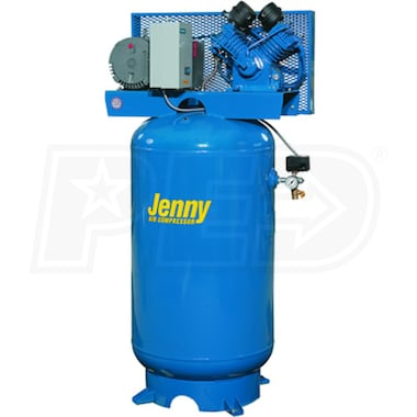 Jenny 5-HP 60-Gallon Two-Stage Air Compressor (230V 1-Phase)