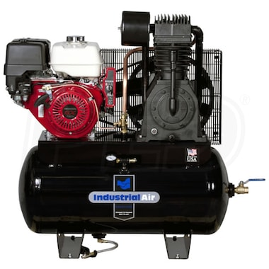 Industrial Air 13-HP 30-Gallon Two-Stage Truck Mount Air Compressor w/ Electric Start Honda Engine