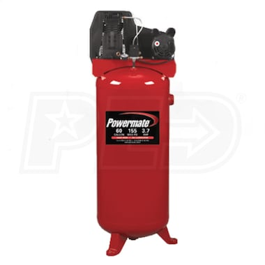 Powermate 3.7-HP 60-Gallon Single-Stage Air Compressor