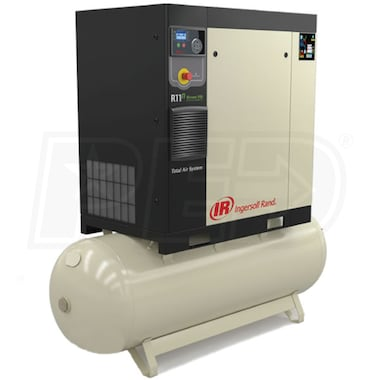 Ingersoll Rand 5-HP 80-Gallon Rotary Screw Total Air System (460V 3-Phase 145PSI)