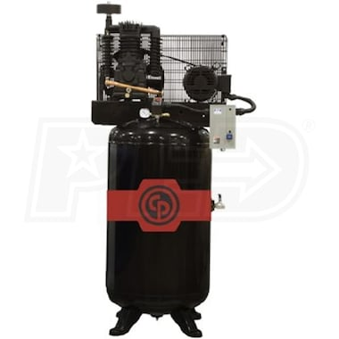 Chicago Pneumatic 5-HP 80-Gallon Two-Stage Air Compressor (208-230V 3-Phase)