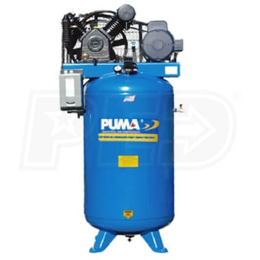 Puma 5-HP 80-Gallon Two-Stage Air Compressor (208-230V 3-Phase)
