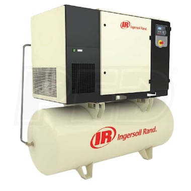 Ingersoll Rand 25-HP 240-Gallon Total Air System Rotary Compressor (230V 3-Phase 125 PSI) w/ Dryer