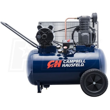 Campbell Hausfeld 2-HP 20-Gallon (Belt Drive) Dual-Voltage Cast-Iron Air Compressor